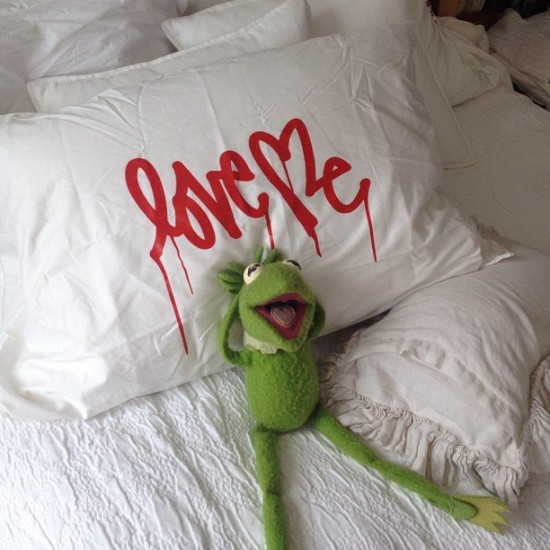 "Kermit the Frog ""Love Me"" by @curtiskulig."