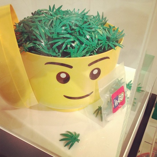More LEGO cannabis leaves at Known Gallery. Photo by @bgoretsky.