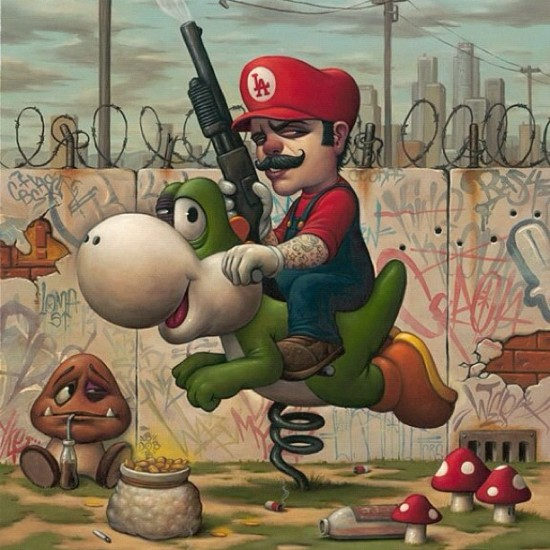 """Nice to see the completion of """"Mario-13"""" by @bobdob. (Note the @craola tag in the background...)"""