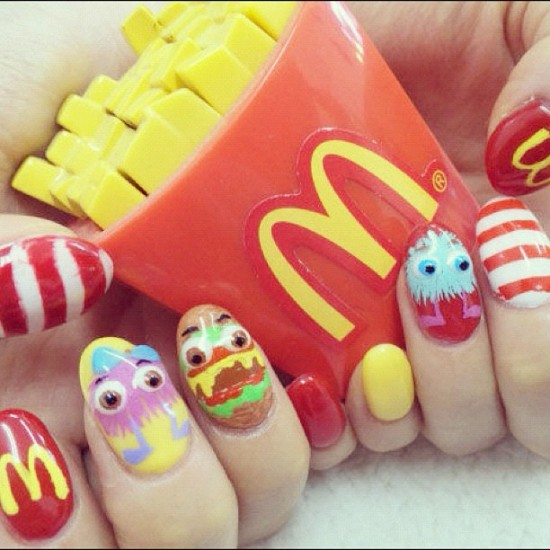 McDonalds fandom as nail art! Photo by @gogorpm in Japan.