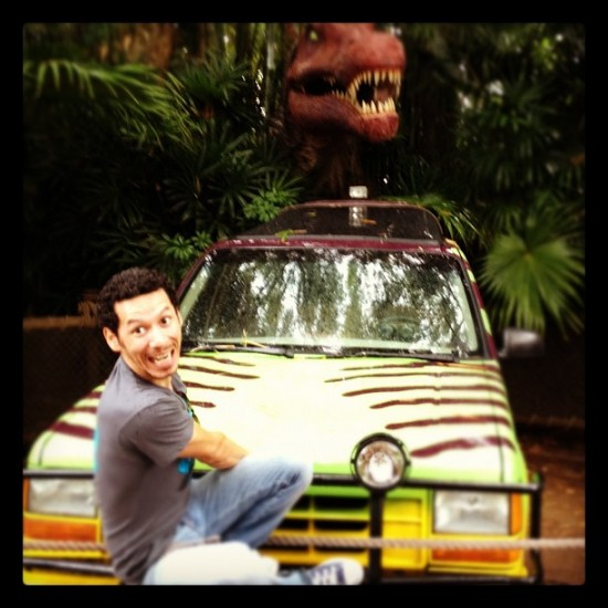 @Chauskoskis getting crazy in Jurassic Park!