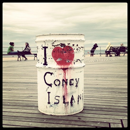 Post-apocalyptic Coney Island toxic waste bin? Photo by @jeremyriad.