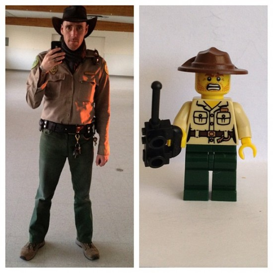 Check out this incredible official LEGO mini-me of artist/park ranger @rat136!