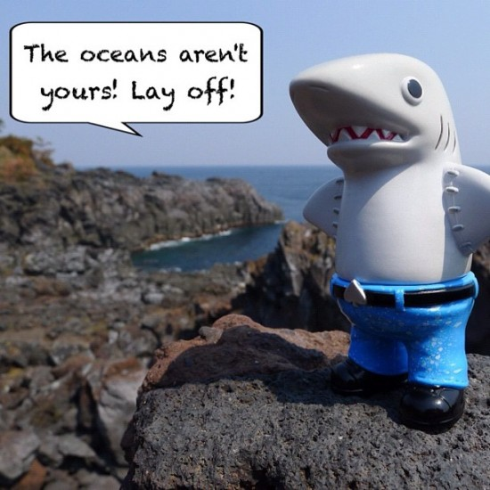 """The oceans aren't yours! Lay off!"" by @cometdebris."