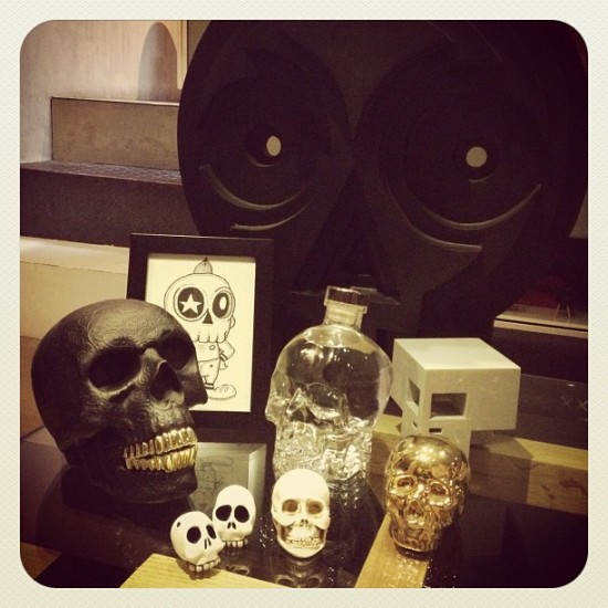 Sweet collection of skulls in the possession of @arnoldaustria in The Philippines.