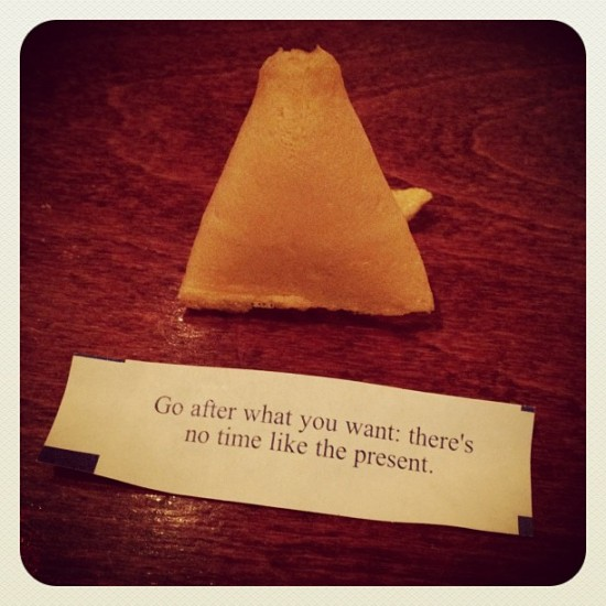 A cool fortune I got in a Chinese restaurant in Brooklyn, NY. Photo by @jeremyriad.
