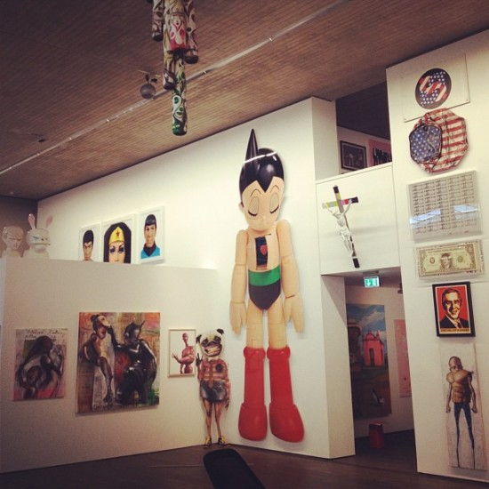 Before @toykio opened his killer toy art museum show in Berlin. Almost ready!