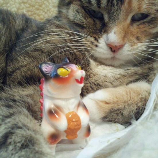 Kitty and Kaiju Negora. Photo by @debparis1.