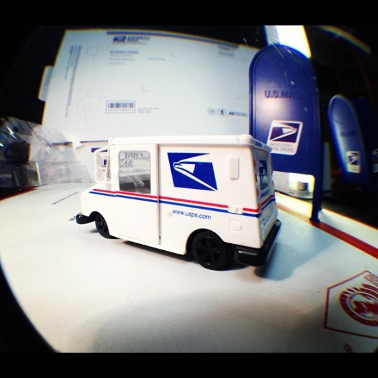 Miniature mailtrucks and mailboxes coming soon from @philfoss? Yes please.