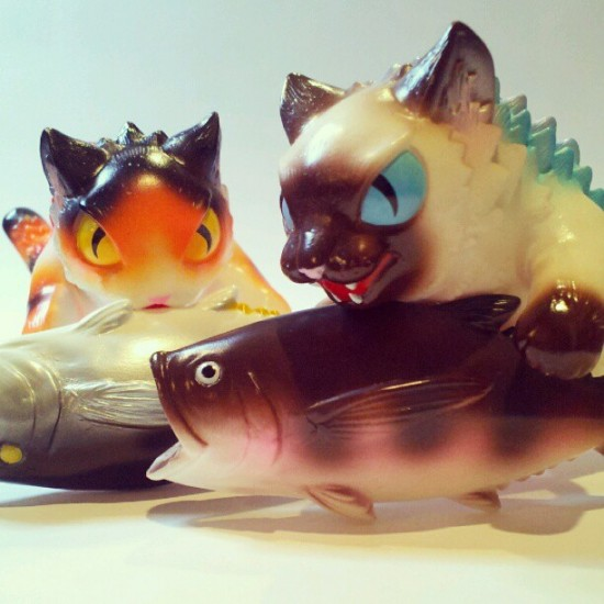 Designer toys dinner party @maxtoyco-style. From the collection of @debparis.