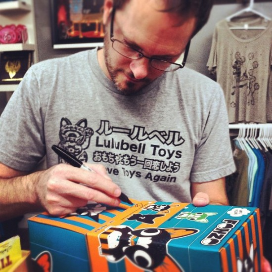 @garyham signing toys at Lulubell Toy Bodega. Photo by @luluamy.