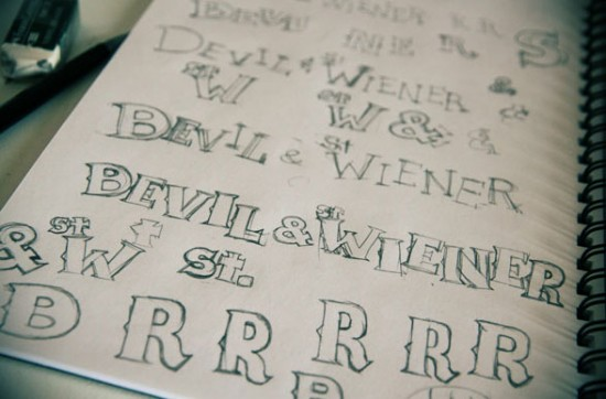 Hand-drawn Bevil font by Paul Shih
