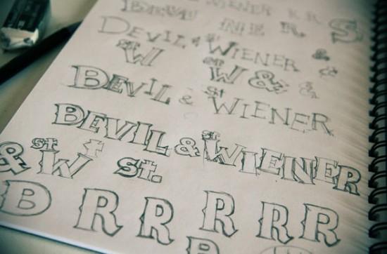 Hand-drawn Bevil font by Paul Shih