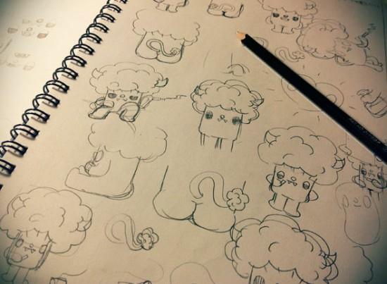 Preliminary Bevil sketches by Paul Shih
