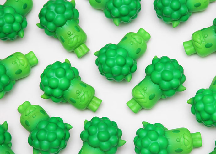Bevil the Broccoli Resin Toy by Paul Shih