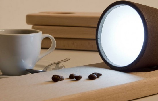decafe coffee lamp by Raúl Laurí