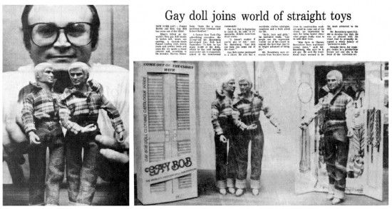 Gay Bob in the newspaper
