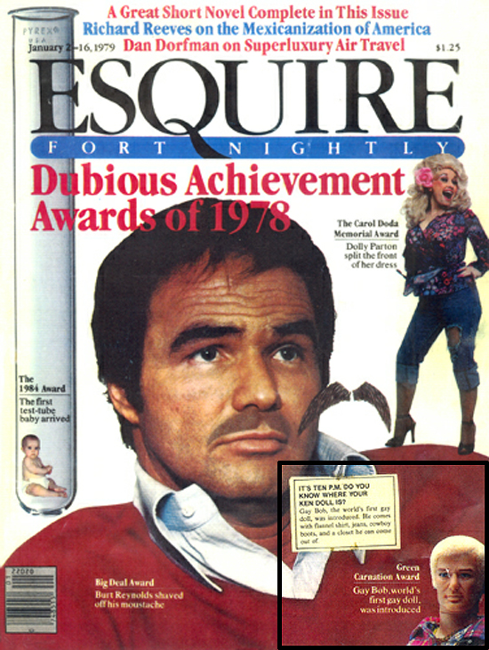 Gay Bob on the cover of Esquire