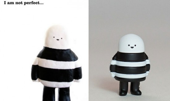 GhostB by Bubi Au Yeung in resin (left) and vinyl (right)