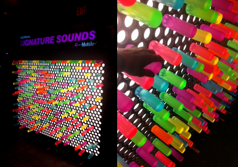 Giant Lite Brite Interactive Installation for Signature Sounds