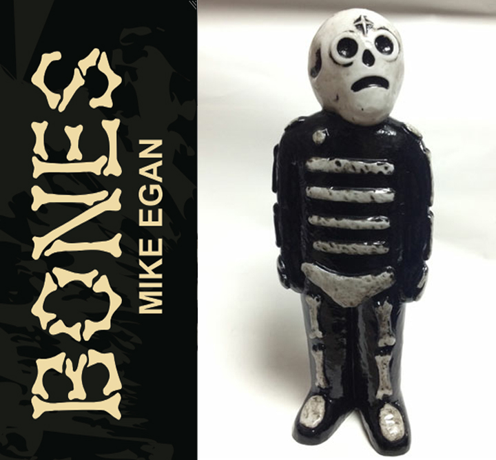 Bones sofubi by Mike Egan x Grody Shogun