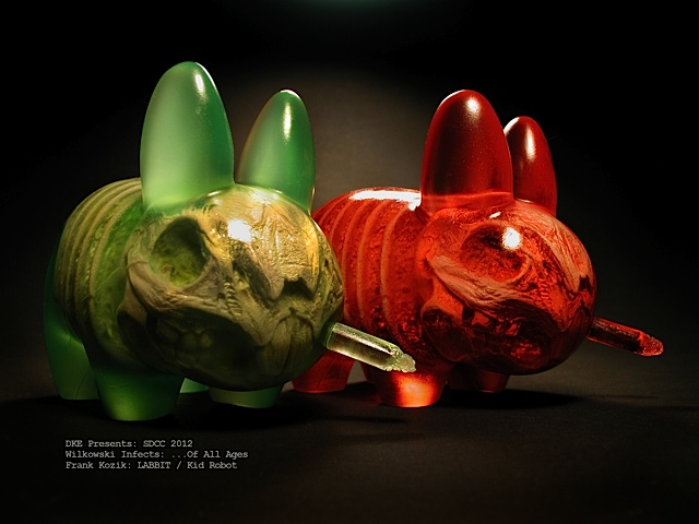 Scott Wilkowski x Frank Kozik x DKE Infected Labbits for SDCC 2012