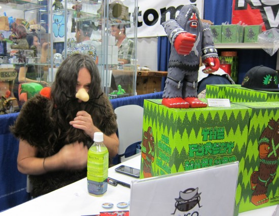 More Bigfoot at Kuso Vinyl, Comic-Con 2012!