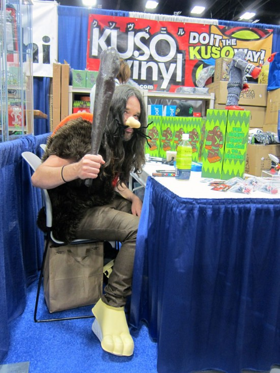 Bigfoot as Captain Caveman at Kuso Vinyl, Comic-Con 2012