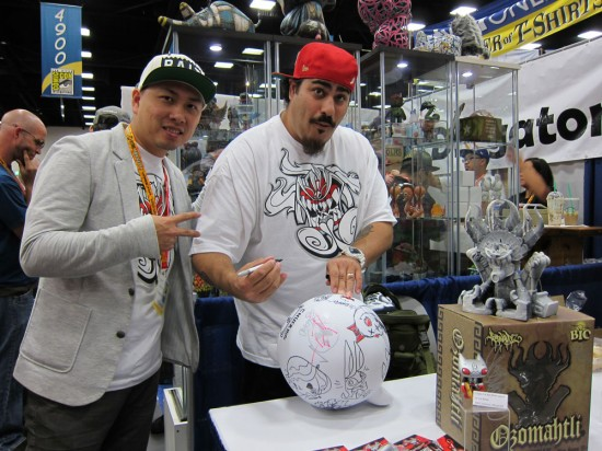 Jonathan Ma and Jesse Hernandez at Kuso Vinyl, Comic-Con 2012