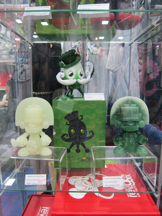 GID and Jade resin Mictlan by Jesse Hernandez and Absinthe edition Chester Runcorn by Doktor A