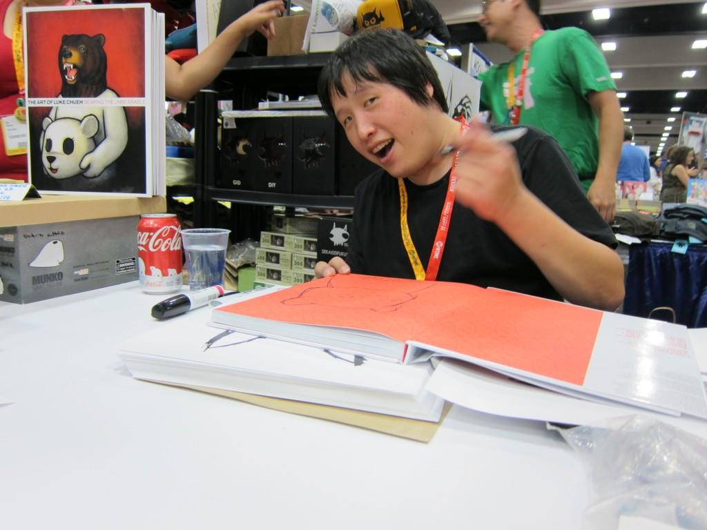 Luke Chueh signing at Giant Robot, Comic-Con 2012
