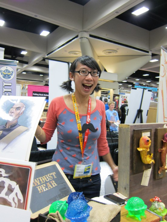 Shing Yin Khor aka Sawdust Bear at Comic-Con 2012