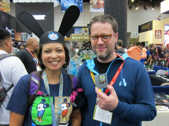 Scott Tolleson and fan at Comic-Con 2012