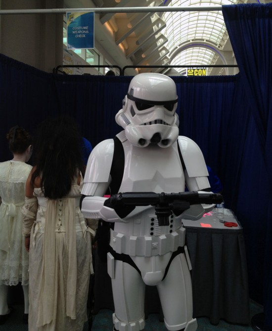 Storm Trooper after Costume Weapons Check