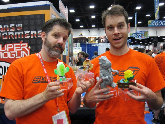 Brian Flynn and Josh Herbolsheimer of Super7 at Comic-Con 2012