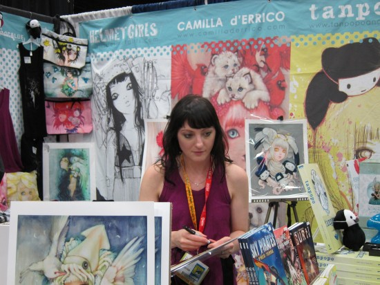 Camilla D'errico at Comic-Con 2012