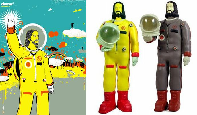 Astronaut Jesus by DOMA