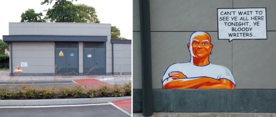 Fra.Biancoshock Italian street art interventions