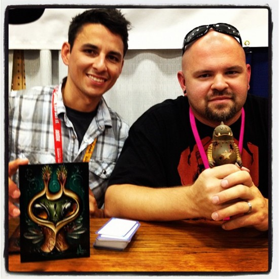 Jason Limon and Dril One at Dragatomi, Comic-Con 2012