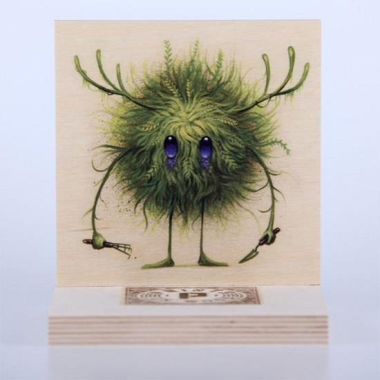 Seeker Gardener PrintsonWood by Jeff Soto