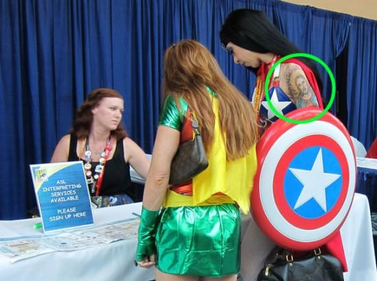 Wonder Woman's Jesus Tattoo