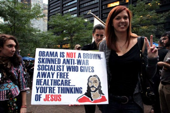 JESUSCARE protest sign