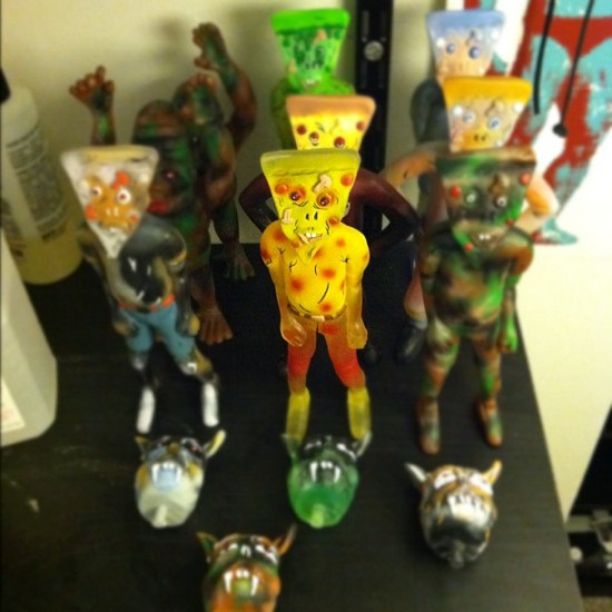 Resin toys by Steven Erst x Monstrehero