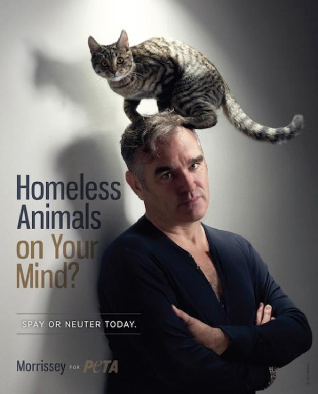 Morrissey and Cat Friend for PETA