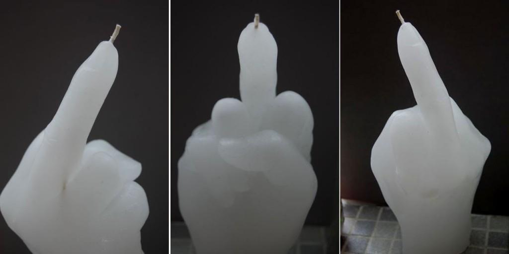 Middle Finger Candles by Nao Matsumoto
