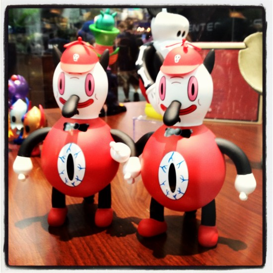 Toby Dee And Toby Dum (red - Bait SDCC Exclusives) by Gary Baseman $120