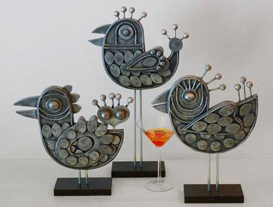 Bird sculptures (2012) - Shag interview