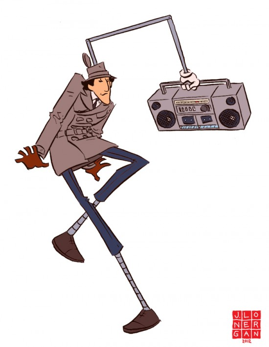 Inspector Gadget Dancing by Jesse Lonergan