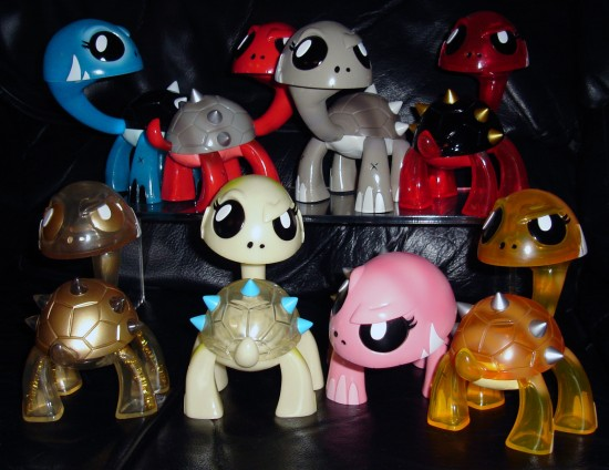 Joe Ledbetter's Kaiju For Grown-ups (KFGU) Full Set of Gamerita Vinyl Toys