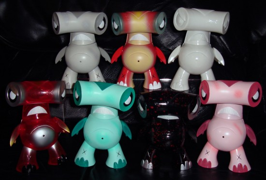 Joe Ledbetter's Kaiju For Grown-ups (KFGU) Full Set of Hammerhead Vinyl Toys